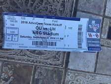 2016 OKLAHOMA SOONERS VS HOUSTON COUGARS COLLEGE FOOTBALL TICKET STUB 9/3