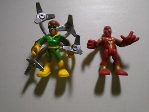 FISHER PRICE  IMAGINEXT  DC COMICS  SUPER HEROES  ( DOC OCK  & SPIDERMAN  )