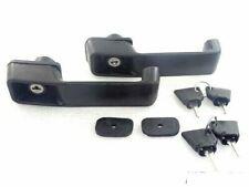 JCB 3DX 3CX BLACK PLASTIC DOOR LOCK HANDLE SET OF 2 WITH KEYS