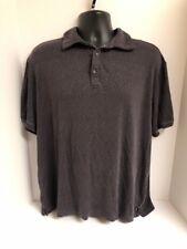 52598642 Nat Nast Luxury Originals Gray Cotton Blend S/S Polo Golf Shirt Mens Sz XL