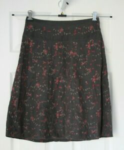 White Stuff -  Embroidered Floral Cord Skirt ~ Size 10