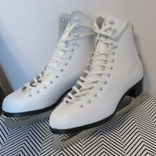 Fenesse Ccm 7 Figuare Skates Slm Canada Made Blades 9 2/3 White Leather Women's