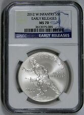 2012 W INFANTRY S$1 EARLY RELEASES NGC MS 70