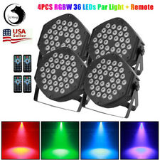 4PCS LED RGB Stage Lighting PAR Beam Strobe DMX Party Disco DJ Light 72W +Remote