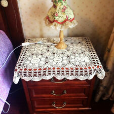 """White Vintage Crocheted Placemats Doily Floral Lace Table Cover 16""""*24"""""""