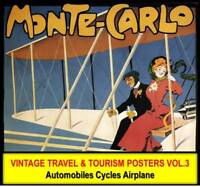 AUTO CAR BICYCLE AIRPLANE VINTAGE POSTERS Lot #3 DVD Wall Art Nouveau Deco Print