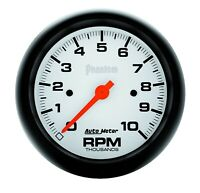 AutoMeter 5897 Phantom In-Dash Electric Tachometer with White Dial Face