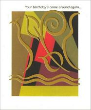 Gold Foil Abstract Birthday Card - Greeting Card by Freedom Greetings