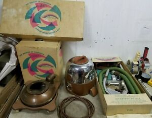 Vintage Rexair Rainbow Model D Canister Vacuum w/ Attachments in Original Boxes