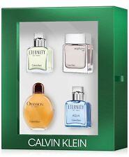 Calvin Klein Mens 5 Piece Mini Cologne Gift Set Eternity Men Eternity AQUA MAR