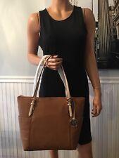 NWT Michael Kors Jet Set Item Top Zip Acorn Pebbled Leather Tote Bag $348