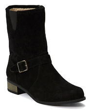 Shoes of Soul Black Faux Shearling Ankle Boot Women's Size 9