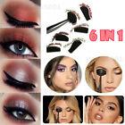 Portable Crease Line Kit Eyeshadow Applicator Crease Tools Lazy Makeup Tool 6in1