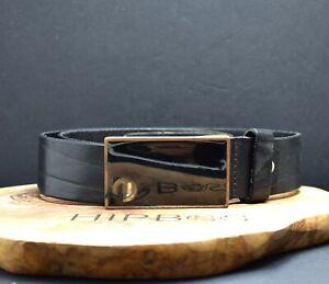 Jack & Jones Vintage Mens Leather Belt Black Size 36