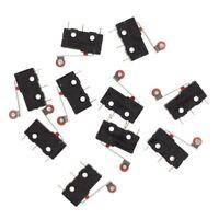 10 Pcs Mini Micro Limit Switch Roller Lever Arm SPDT Snap Action LOT M9N3