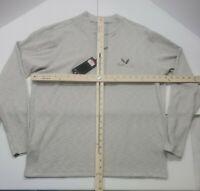 Mens Antigua Golf Sweater 1/4 Zip. Long Sleeve Size L. Light Gray Soft.