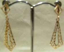 J33 14K YELLOW GOLD DANGLE EARRINGS