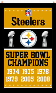 Pittsburgh Steelers Champions Memorable Flag 90x150cm 3x5ft Fan best banner