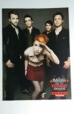 PARAMORE YOU ME AT SIX DOUBLE SIDED 8x11 MAGAZINE CLIPPING FLYER MUSIC POSTER