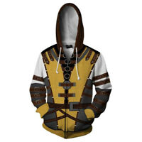 Game Mortal Kombat 11 Scorpion Cosplay Costume Hoodie Outfit Pullover Jacket