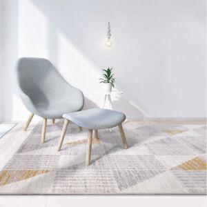 Deal Floor Rug Beige Grey Gold Geometric Modern Carpet Soft Mat Living 160x230cm