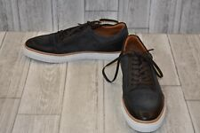 Kenneth Cole Prem-ium Low Top Leather Fashion Sneaker, Men's Size 10.5, Charcoal