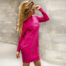 Women Long Sleeve Jumper Tops Casual Loose Tunic Sweatershirt Short Mini Dress
