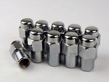 """10 Mag Seat Lug Nuts 1/2-20 Chrome MAG Nut 0.75"""" Shank CRAGAR"""