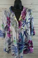 La Cera Blouse 3/4 Sleeves Women's Size Small
