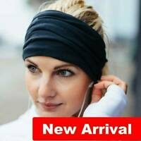 Women Wide Headband Bandana Yoga Sports Elastic Hairband Turban Bands Accessory