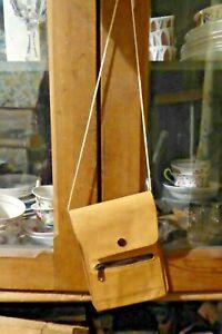 Taurus Brown Leather Passport Holder Travel Neck Bag
