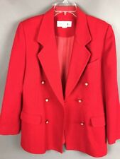 """Wool Coat 12 30"""" Norton McNaughton Red Lined PEN POINT SIZED MARKS"""