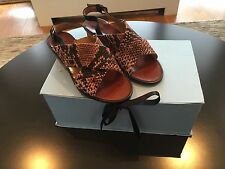 BNIB Lanvin Rose Snakeskin Print Sandals Shoes Size 36 / 6