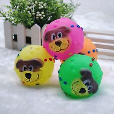 Latex Dog Face Ball Squishy Squeaker Squeaky Chew Fetch Toy For Small Dog Puppy