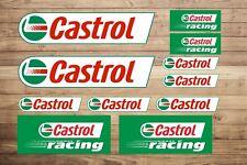 Castrol Aufkleber Set 11 Motorrad Auto Motorsport Race Aufkleber Rally Moto GP