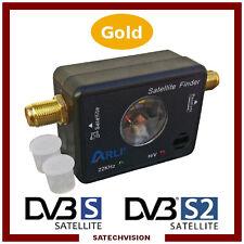 Pointeur Satellite Satfinder ARLI DVB-S DVB-S2 avec Connectique en Plaqué Or