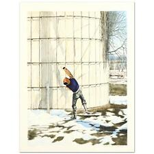 """William Nelson - """"The Snowball Thrower"""" Limited Edition Lithograph hand signed"""