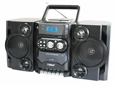 PORTABLE NAXA MP3 / CD PLAYER STEREO RADIO CASSETTE RECORDER w/ REMOTE & USB