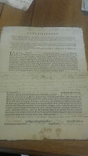 Parchemin manuscrit XVIeme XVIIeme document de famille tours 1773