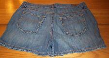 TOMMY HILFIGER blue denim casual shorts tag size 10 actual W34 L4 rise 10.5 *