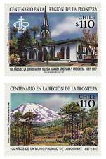 Chile 1997 #1864-1865 Centenario en la Region de la Frontera MNH
