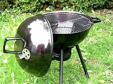 MEGA Kugelgrill Grill + Deckel Thermometer Holzkohlegrill ca Ø 58 cm