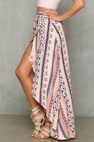 Boho Women Split Skirt Wrap Around Hight Waist Beach Dresses Casual Long Dress