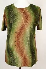 NEW WOMEN  TUNIC size  14/16  TOP SHORT SLEEVE   BLOUSE  LADIES  0328