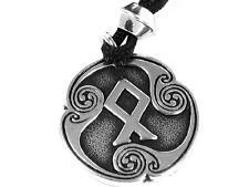 Handmade Othalaz Viking Rune of Heritage Pewter Pendant Norse Asatru Odin