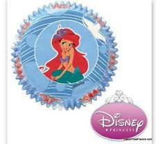 Little Mermaid Ariel CupCake Baking Decoration Party Cups LINERS x50 Birthday NW