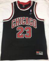 VTG 90's Nike Chicago Bulls Michael Jordan NBA Jersey Men's SZ XL Swingman Black