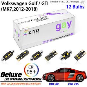 LED Light Bulb Interior Light Kit White Dome Light for (MK7) Volkswagen Golf GTI