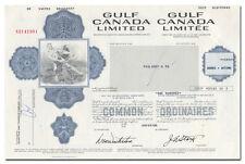 Gulf Canada Limited Stock Certificate