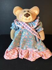"""Vintage FURSKINS Selma Jean Possum Queen 6"""" Girl Bear Doll - Cabbage Patch Toys"""